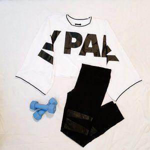IVY PARK Oversize Logo White Crop Top︱Size S